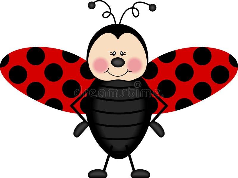 Ali del Ladybug illustrazione vettoriale