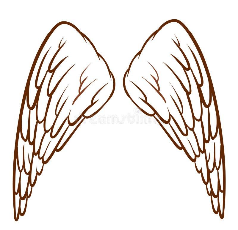 Ali dell'angelo royalty illustrazione gratis