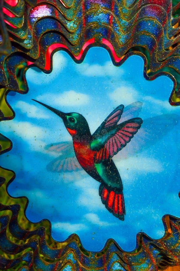 Ali dell'estratto del collettore del vento del colibrì fotografia stock