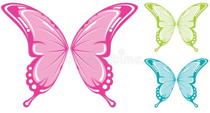 Ali della farfalla royalty illustrazione gratis