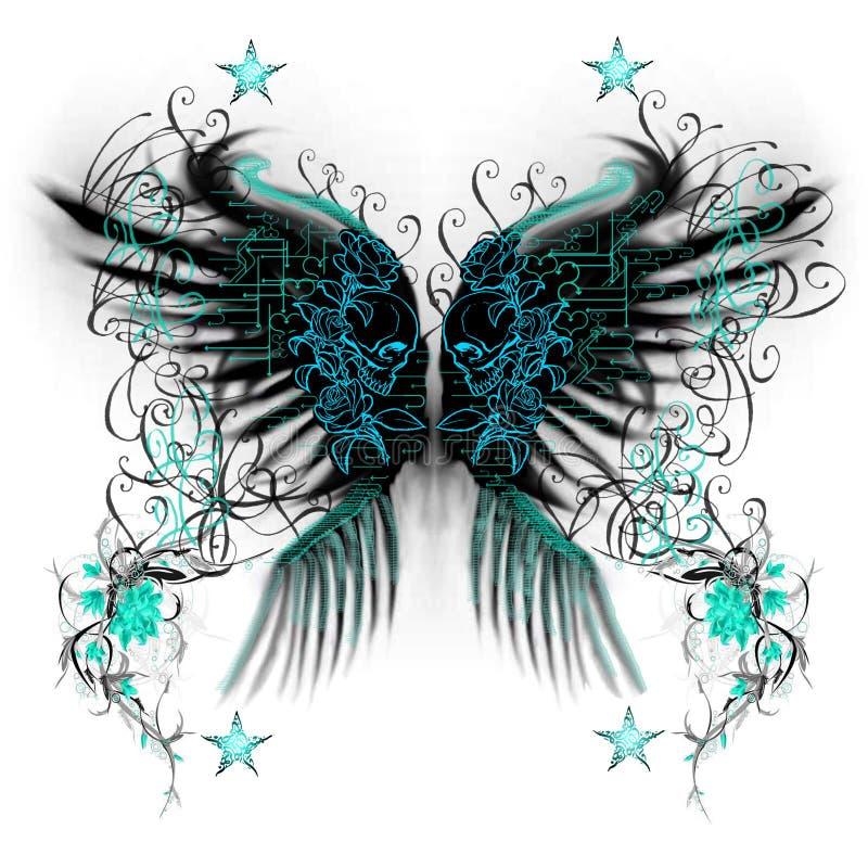 Ali della farfalla illustrazione di stock