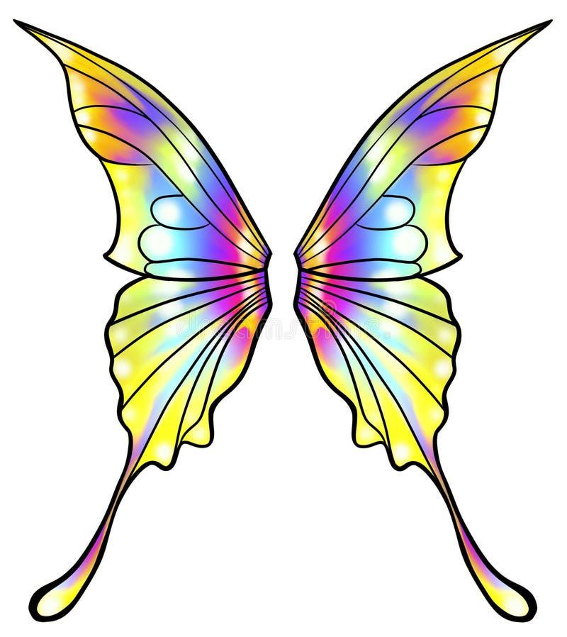Ali della farfalla o del fatato isolate illustrazione vettoriale