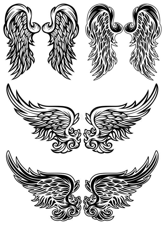Ali di angelo di vettore royalty illustrazione gratis