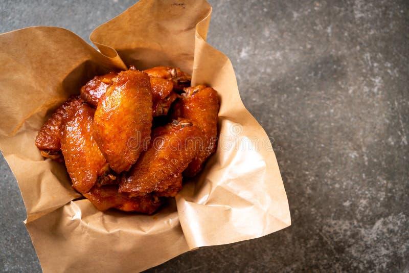 Ali di pollo del barbecue immagini stock libere da diritti