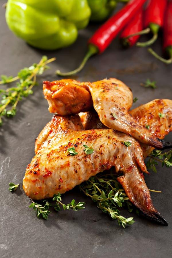 Ali di pollo del BBQ fotografie stock libere da diritti