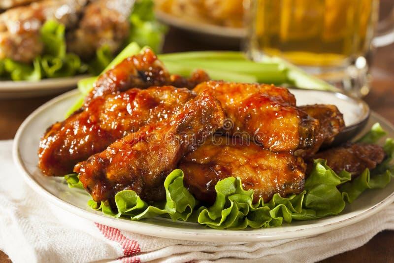 Ali di pollo della Buffalo del barbecue fotografia stock