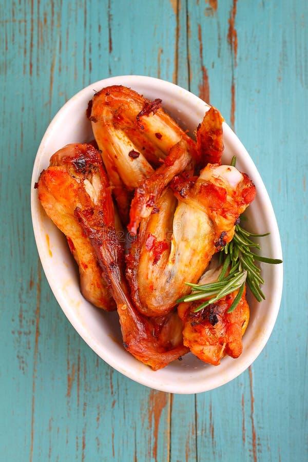 Ali di pollo fritte immagini stock libere da diritti