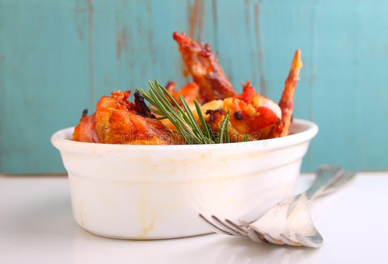 Ali di pollo fritte immagine stock libera da diritti