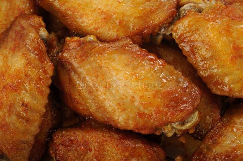 Ali di pollo piccanti immagine stock