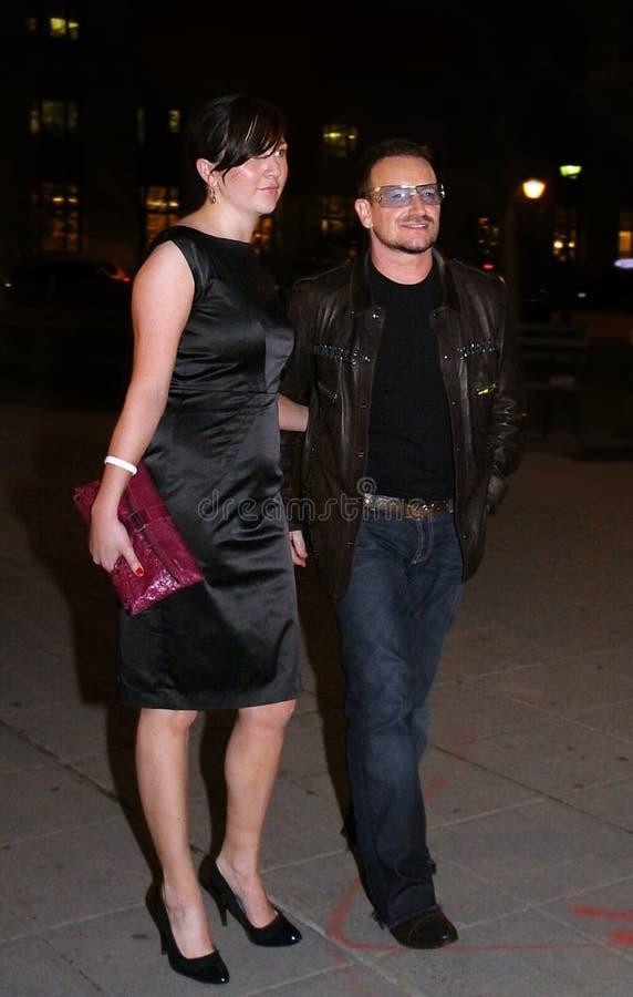 Ali Hewson och Bono royaltyfri foto