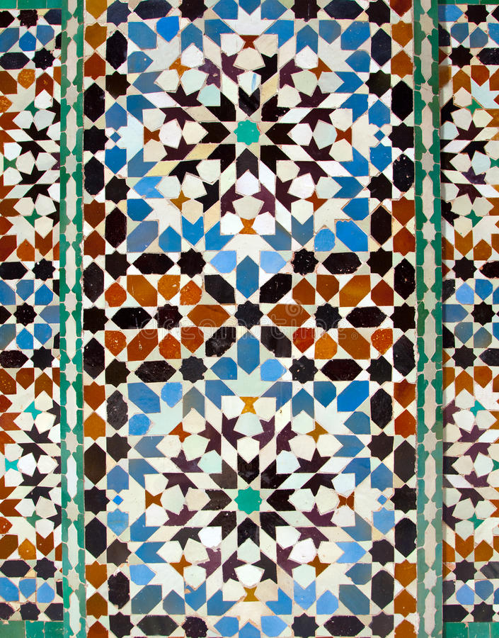 ali madrassa Ben Marrakech tafluje Youssef obraz royalty free