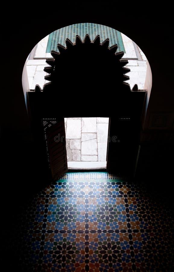 ali madrassa Ben Youssef obraz royalty free