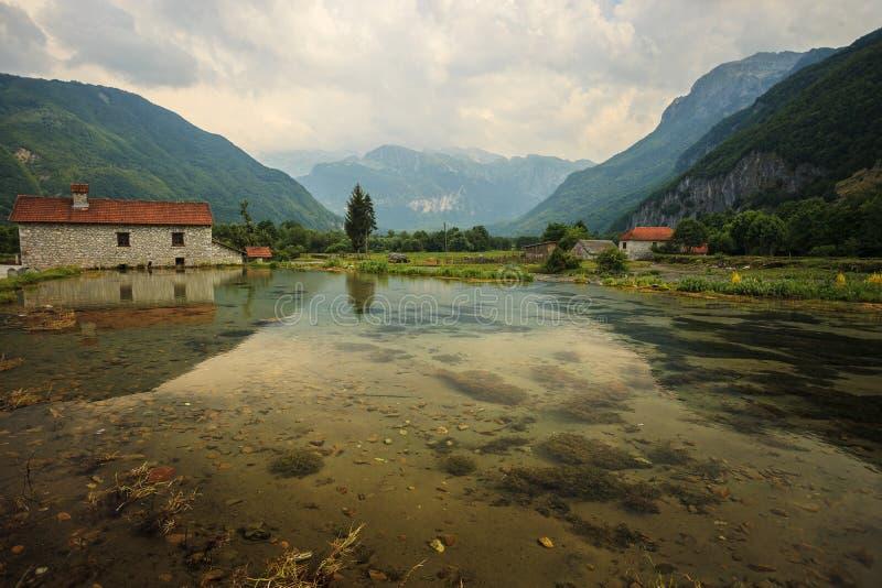 Ali-Pasha Springs. Near Prokletije national park in Gusinje, Montenegro royalty free stock images