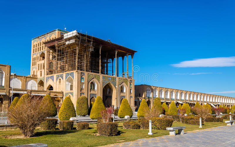 Ali Qapu pałac na Naqsh-e Jahan kwadracie w Isfahan obrazy stock