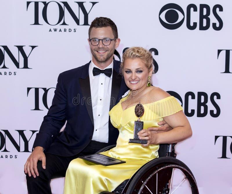 Ali Stroker Wins em Tony Awards 2019 imagens de stock royalty free