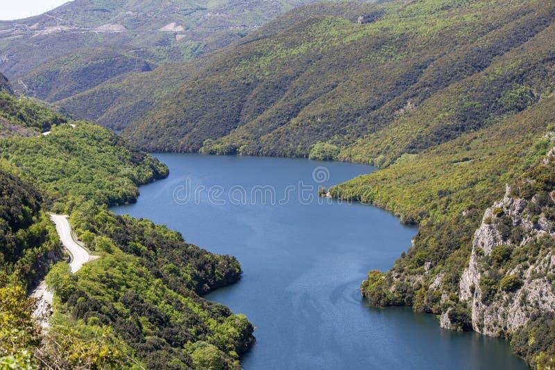 The Aliakmonas River in the region of Northern Greece. Aloakmonas, valley, outdoor, nobady, background, awesome, idyllic royalty free stock images