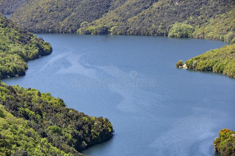 The Aliakmonas River in the region of Northern Greece. Nobody, outdoor stock images
