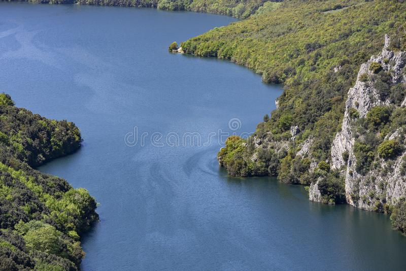 The Aliakmonas River in the region of Northern Greece. Outdoor, nobody, background royalty free stock photography