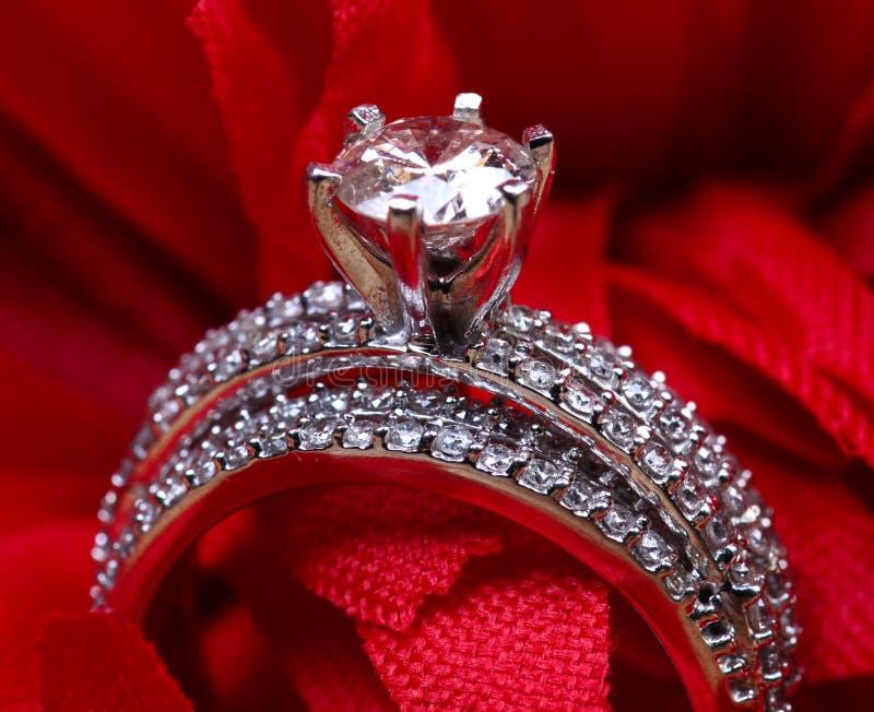 Aliança de casamento do solitário imagem de stock
