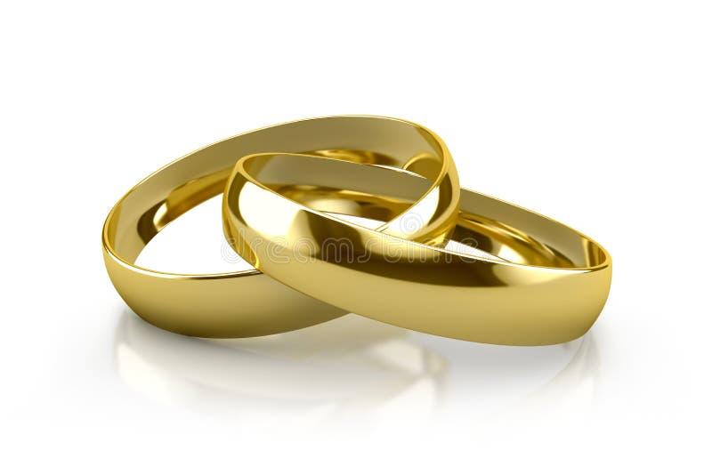 Alianças de casamento ilustração do vetor