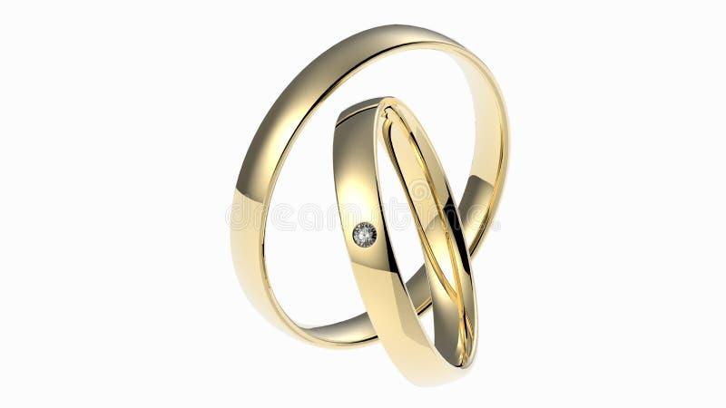 Alianças de casamento com diamante fotos de stock royalty free