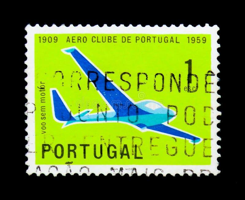 Aliante, club aereo del serie del Portogallo, circa 1960 immagini stock libere da diritti