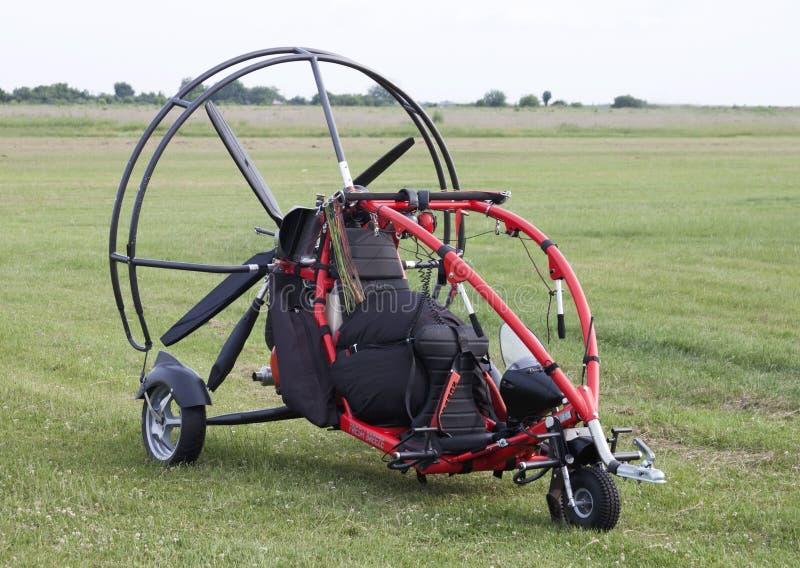 Aliante del motore con l'elica - formato GREZZO fotografia stock libera da diritti