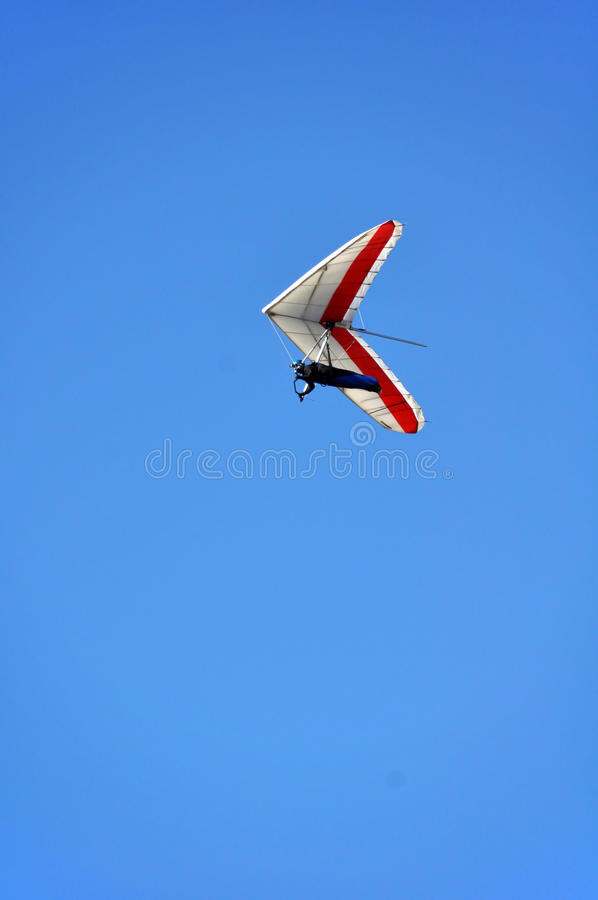Aliante di caduta - colore rosso e bianco fotografia stock libera da diritti