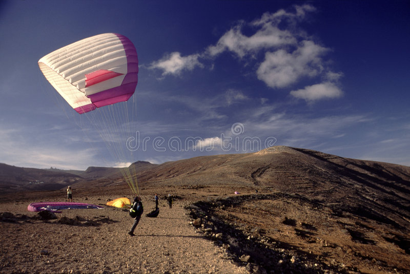 Aliante a Lanzarote fotografie stock