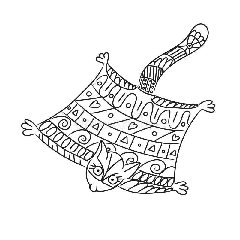 Aliante stilizzato dello zucchero isolato su fondo bianco illustrazione vettoriale