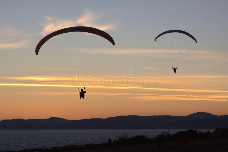 Alianti nel cielo, Victoria, BC, il Canada immagini stock libere da diritti