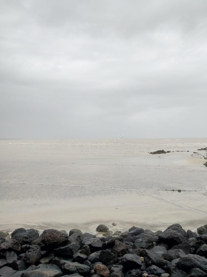 Alibag plaża piękno morze obraz royalty free