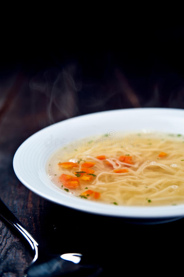 Free Alible And Tasty Chicken Soup Royalty Free Stock Image - 37673426