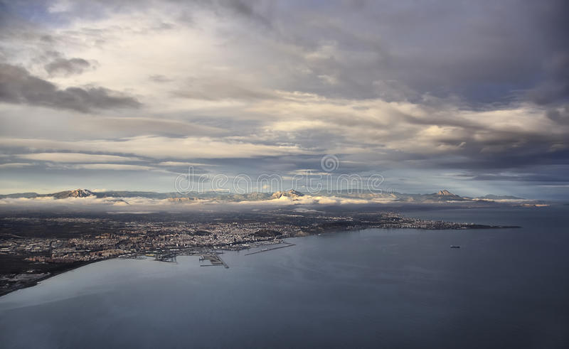 Download Alicante stock image. Image of flight, earth, water, clouds - 12354183