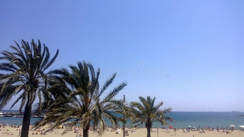 Alicante beach stock image