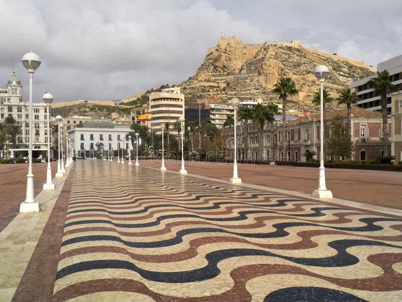 Alicante - Costa Blanca - Spain. Alicante on the Costa Blanca on the Mediterranean coast of Spain royalty free stock photos