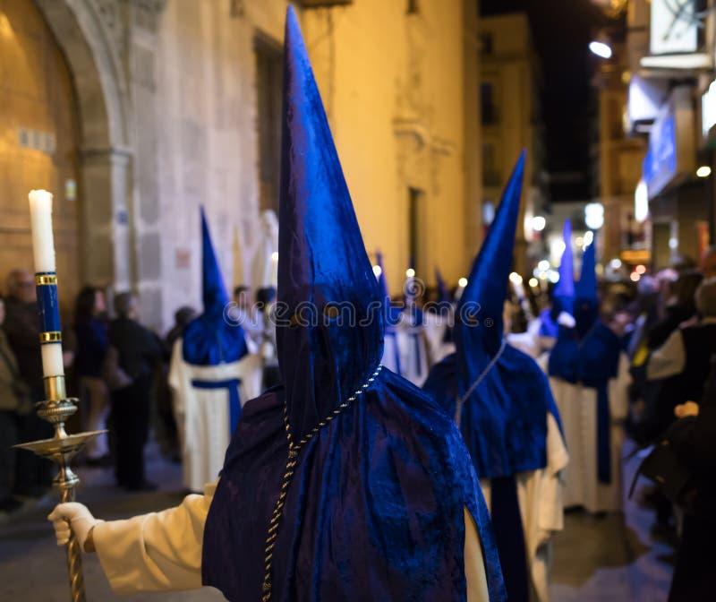 Alicante, España 25 de marzo de 2016 Procesión de Pascua foto de archivo