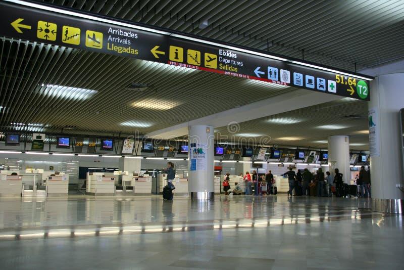 Alicante-Flughafen stockfotografie