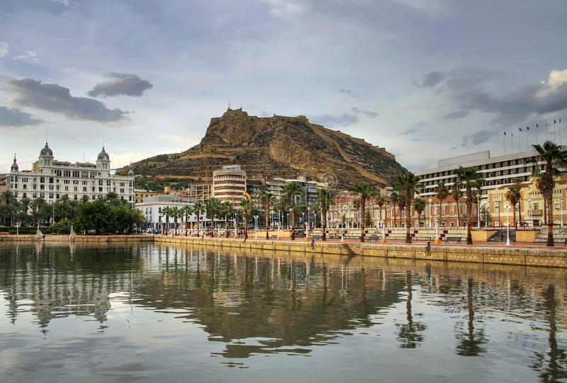 Alicante harbor stock photo