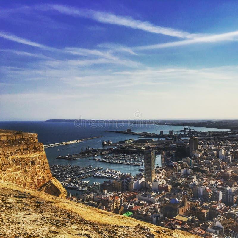 Alicante hermosa fotografía de archivo libre de regalías
