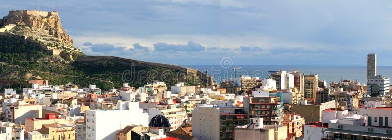 Alicante Hiszpania Śródziemnomorski miasto fotografia royalty free