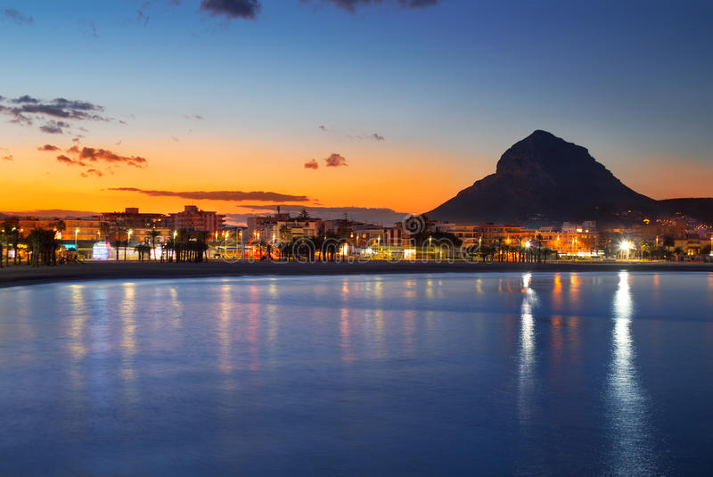 Download Alicante Javea Sunset Beach Night View Stock Image - Image: 31037447