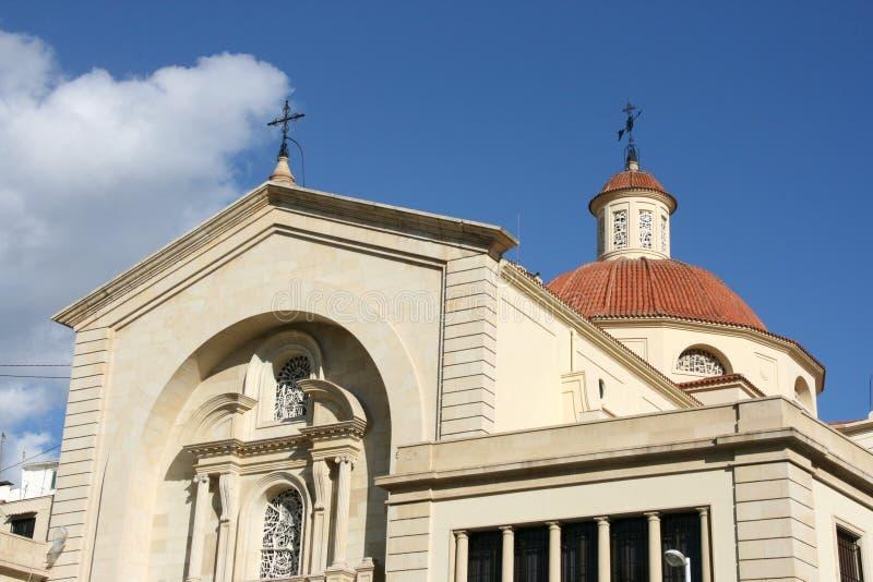 Alicante-Kirche lizenzfreie stockfotos