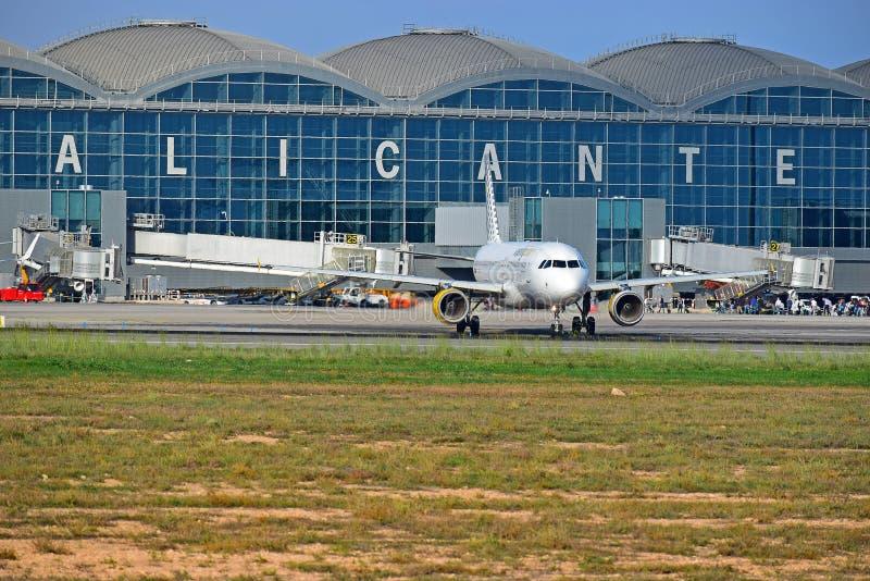 Alicante lotnisko Hiszpania zdjęcie royalty free
