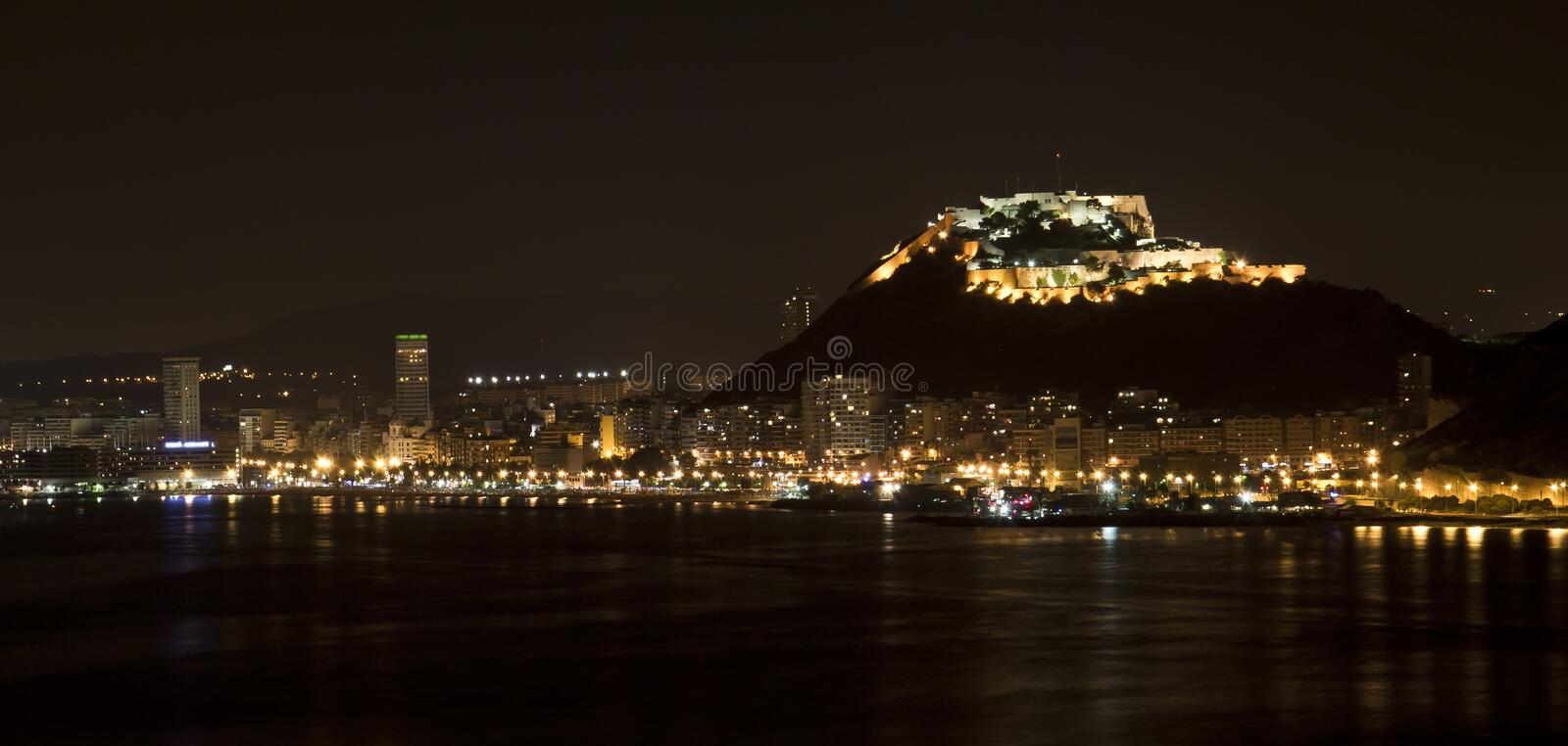 Alicante By Night Royalty Free Stock Photo