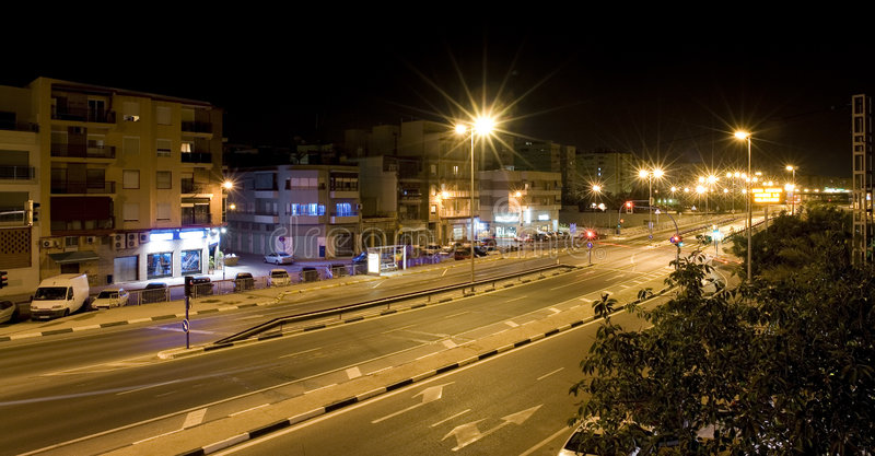 Download Alicante by Night stock image. Image of night, traffic - 5992041