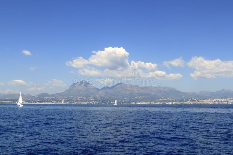 Download Alicante Province White Coast Sailboat Sailing Stock Image - Image of landscape, ocean: 15843979