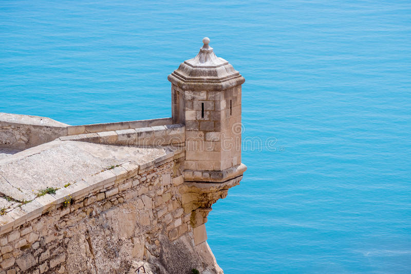 Alicante-Schloss lizenzfreie stockfotografie