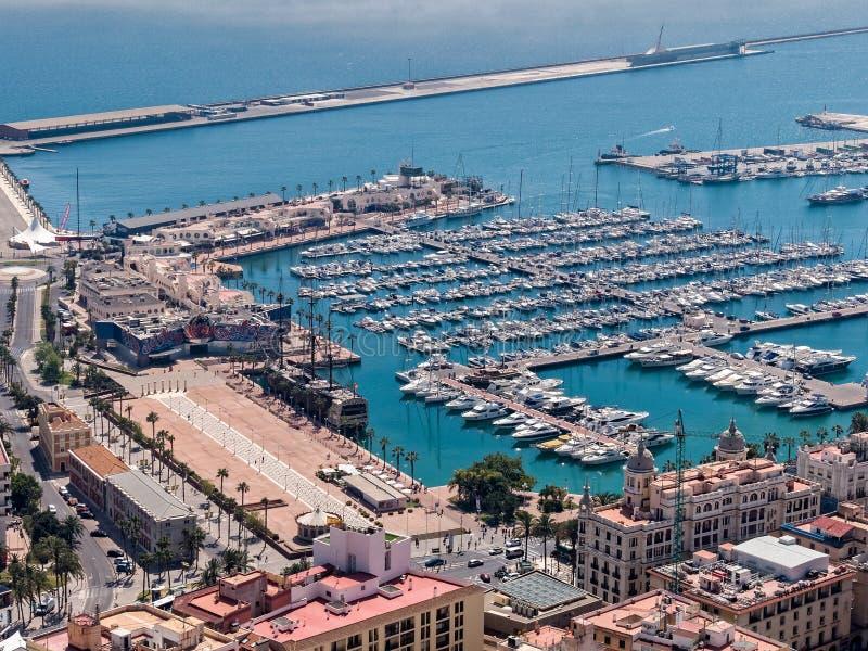 Alicante schronienie i nabrzeże fotografia royalty free