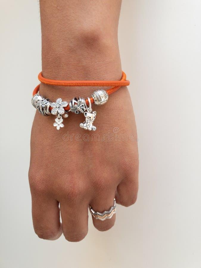 pandora bracelet orange